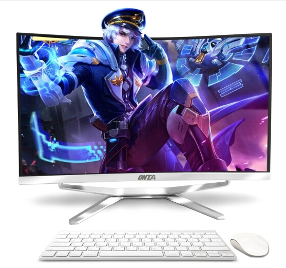 23,5 27 32 pulgadas todo en uno curvado lcd hd panel de visualización de pantalla ordenador de escritorio pc con i5-7400/8G/120G/GT1050/4G