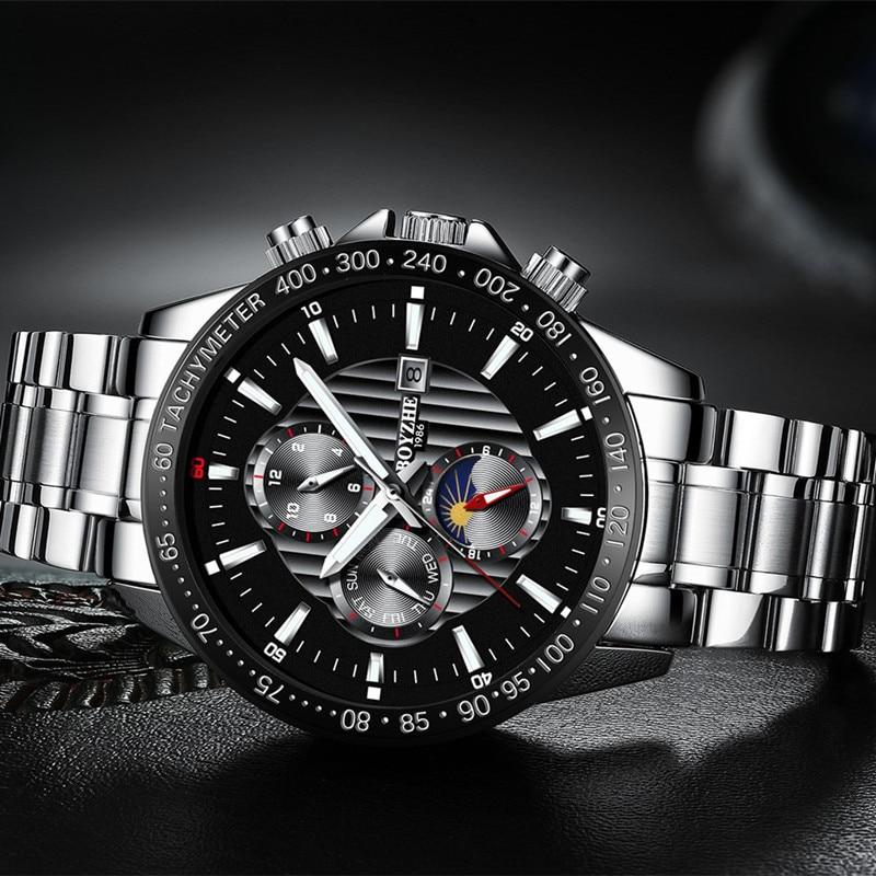 オリジナル BOYZHE ファッション多機能メンズ腕時計トップブランド腕時計自動男性 24 時間カレンダー週発光機械式時計  グループ上の 腕時計 からの 機械式時計 の中 3