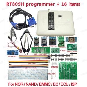 Image 1 - Original Universal RT809H EMMC NAND FLASH Programmer + 16 พร้อม CABELS EMMC   Nand จัดส่งฟรี