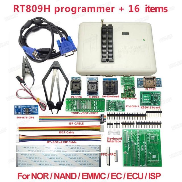 オリジナルユニバーサル RT809H EMMC NAND フラッシュプログラマ + 16 アイテムとパイロットケーブル EMMC Nand 送料無料