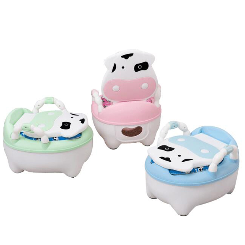 2018 Baby Potty Toilet Training Seat Baby Potty Portable Baby Toilet Pot Cartoon Child Pot Kids Potty Chair With Soft Cushion WC kids child baby potty toilet seat mat baby potty training chair portable travel toilet 1 piece
