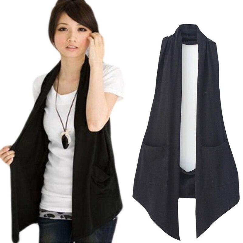 Primavera feminino all-match fino preto colete colete feminino casual coletes senhoras roupas de moda mais tamanho M-4XL