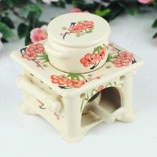 Plum Flower Aromatherapy Oil Burner Essential Incense Burner Decoration Candle Holder Wedding Gift SK096