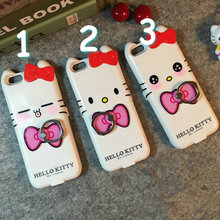 New Olá Kitty Doce emoji 10000 mAh Banco Energia de Backup Caso Bateria Externa tampa da caixa do carregador para o iphone 6 6 s 6 plus 7 7 plus