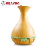 400ml Aromatherapy Essential Oil Diffuser Vase Shape Cool Mist Whisper Quiet Humidifier With 4 Timer Setting