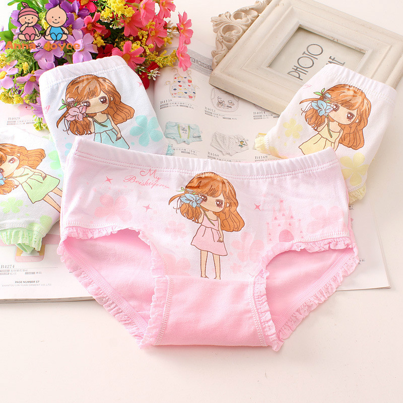 5Pcs/Lot New Girls Underwear Baby Cotton Triangle Shorts Underwear LHTNN401