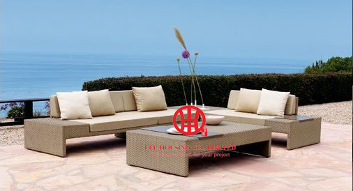 Garden Wicker Furniture Patron Sofa Set,F-leisure Ways Outdoor Rattan Sofa Furniture,luxury Rattan Outdoor Furniture