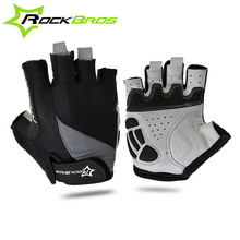 RockBros summer cycling gloves Breathable windproof gloves for men Half Finger gloves mtb bicycle accessories 2017