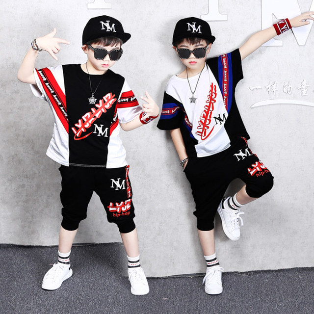 2019 Summer Boys Clothing Set Short-Sleeve Camouflage Set Children's Clothing Cotton Army Green Kids Suit For 5 6 7 8 10 12 13Y
