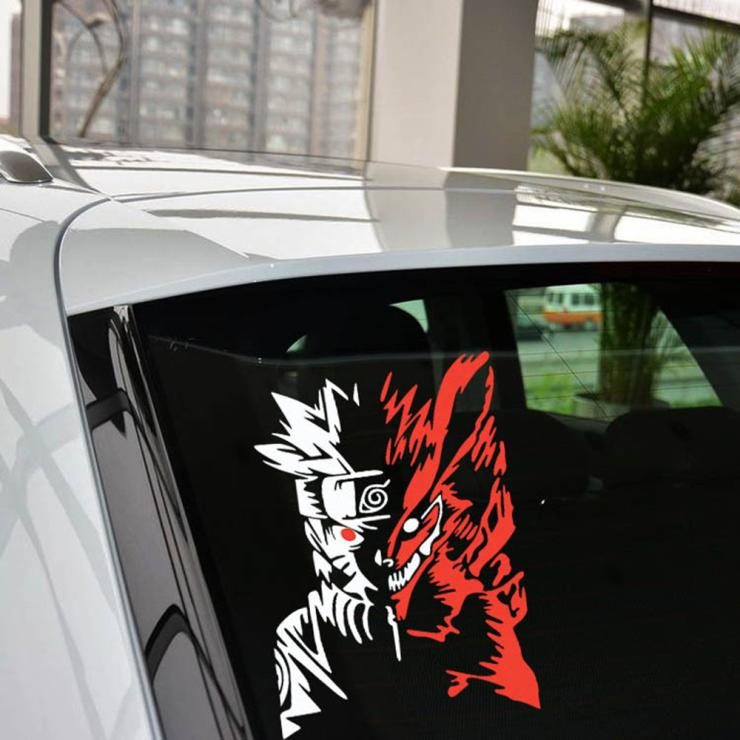 Car Styling Cartoon Naruto Reflective Car Stickers Decals The Fox