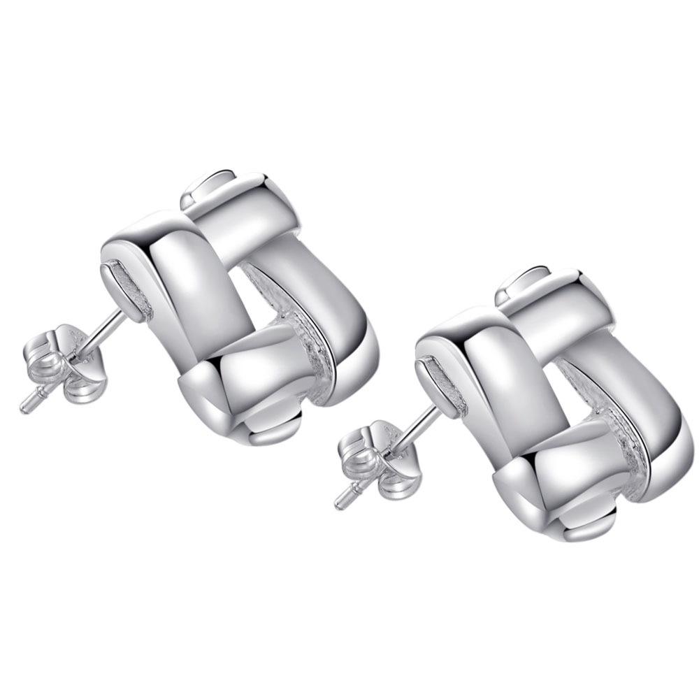 Compiled shiny  high quality Silver Earrings for women fashion jewelry earrings /KJNLPPTO UEUAMREE