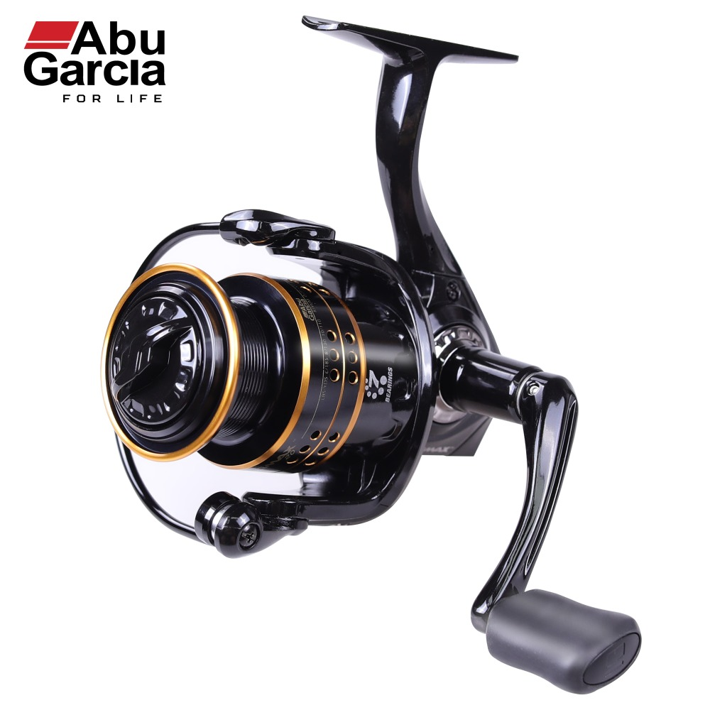 100% ABU GARCIA 6 +1 Ball Bearings PRO MAX SPINNING 500 ,1000 ,2000,3000,4000 Series Fishing Reel Machined Aluminum Spool 2017 new abu garcia 100