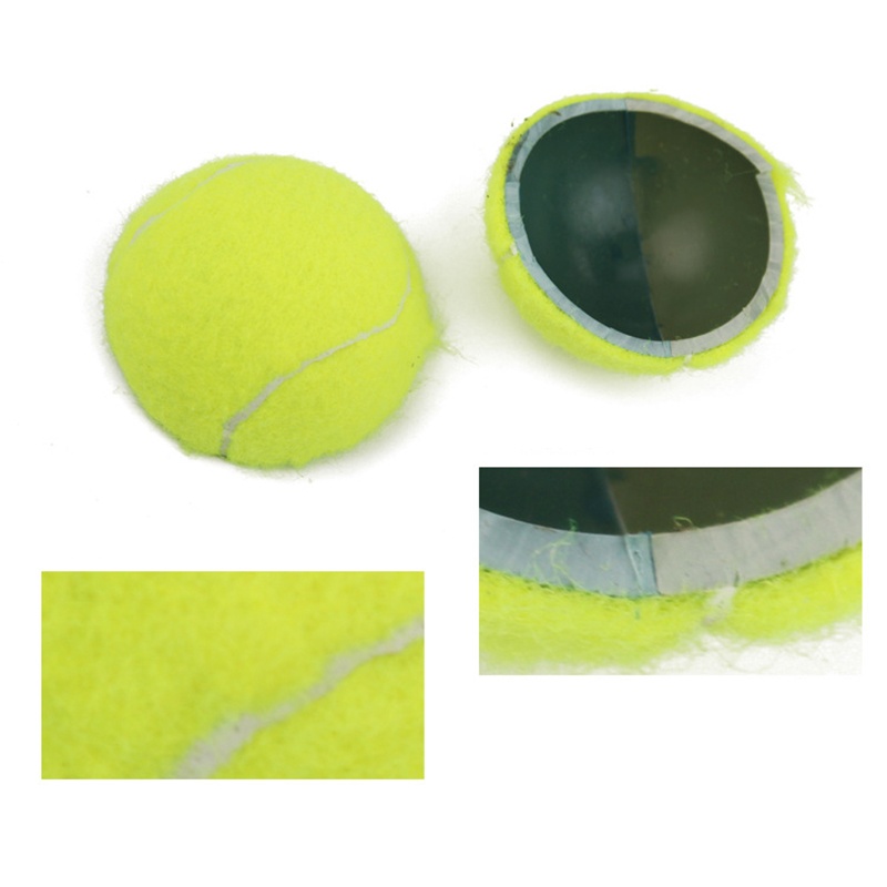 Professional Fluorescent Yellow Tennis Training Ball Small High Resilience Tennis Ball Practice Training Outdoor Sport Exercises