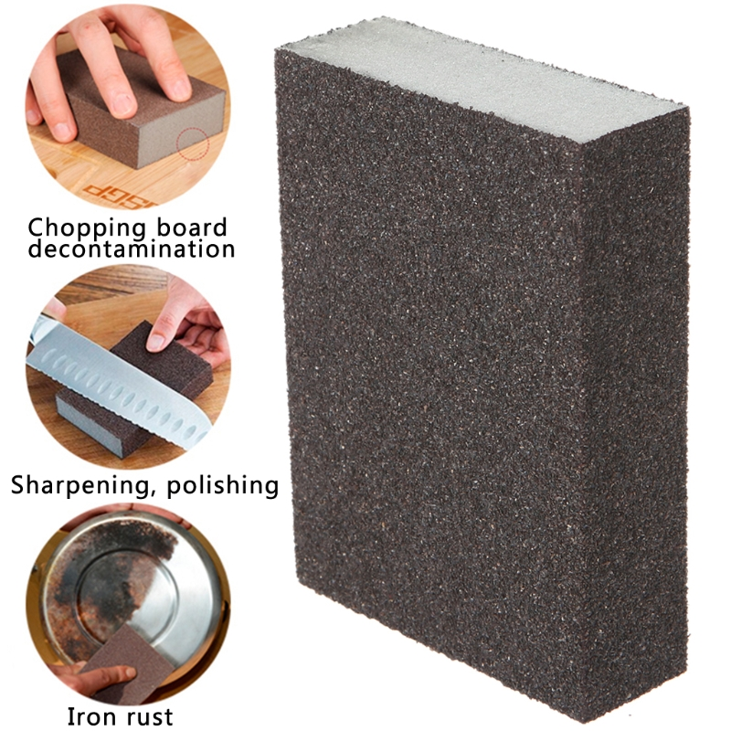 Sanding Block Girt Sponge Polishing Pad Furniture Buffing Sandpaper Tools New