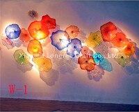 Home Hotel Decoration Hand Blown Glass Art Design Wall Plates
