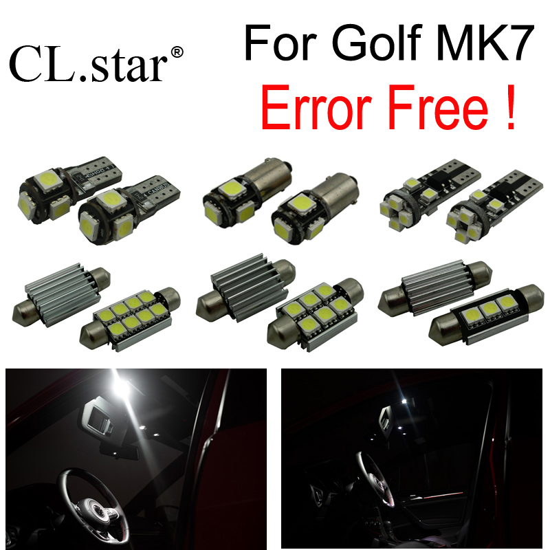 14pc X decoder canbus error free for Volkswagen VW Golf 7 MKVII MK7 Wagon Hatchback LED Bulb Interior Light  Kit Package (2014+) 2pcs 12v 31mm 36mm 39mm 41mm canbus led auto festoon light error free interior doom lamp car styling for volvo bmw audi benz