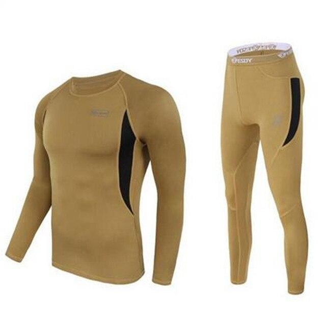 Тепловая 2016 мужская зима Polartec теплый комплект нижнего белья армия цикла quick dry heat Джонс термобелье длинные джонс