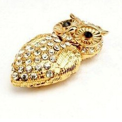 100% real capacity Diamond crystal owl usb flash drives 4GB 8GB 16GB USB Flash 2.0 Memory Drive Stick Pen/Thumb/Car S365