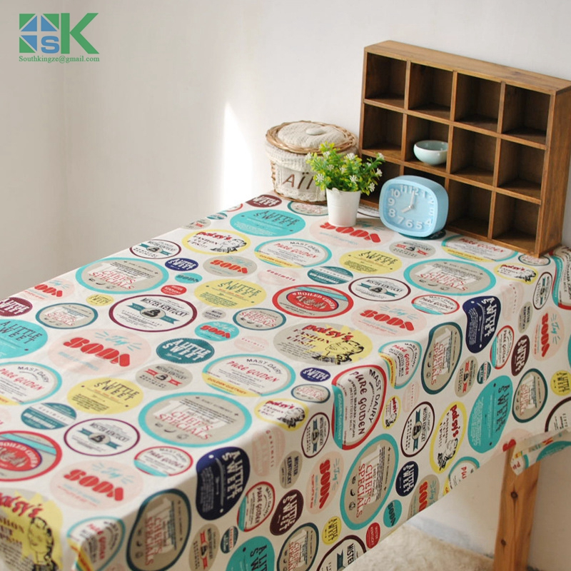 2016 summer new american country style cartoon characters linen tablecloths cover coffee table towel bar home american country style font