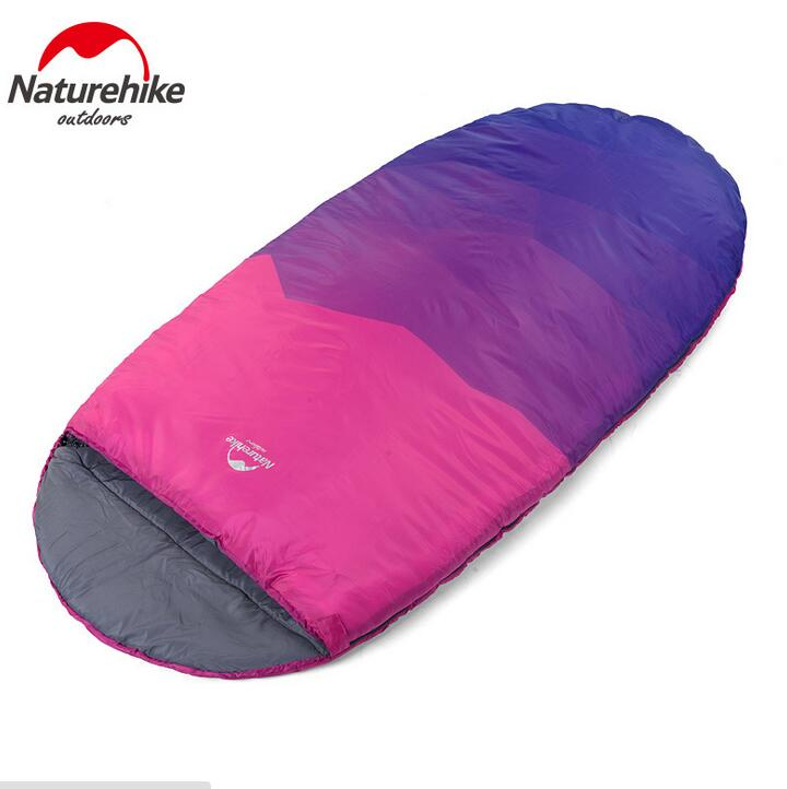 ФОТО Naturehike Pancake Style Adult Single Outdoor Indoor Winter Camping Queen Widened Thickened Warm Lunch Break Sleeping Bag