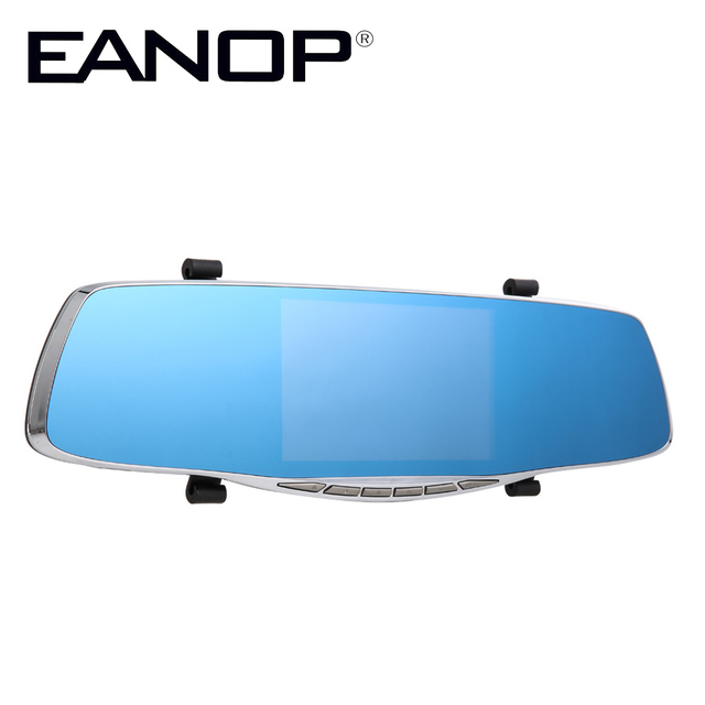 Car Camera Wholesale 20pcs/lot 5.0 inch 1080P HD LCD Dual Lens Car Camera DVR Video Recorder Rearview Mirror Dash Cam