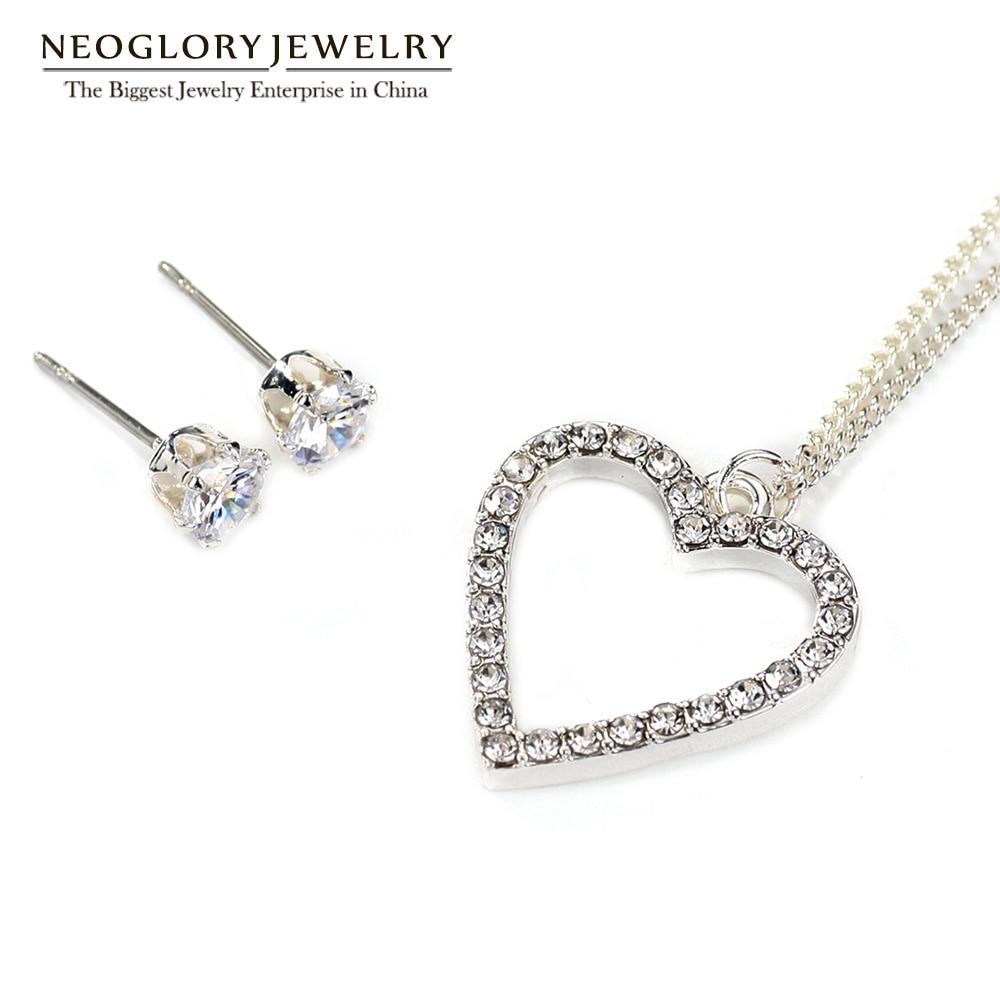 Neoglory Earrings Jewelry-Sets Cubic-Zirconia Necklaces Wedding-Bridal Women Fashion