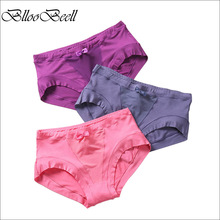 BllooBeell 3piece Modal Womens Underwear High-Rise Panties for Women Girls Sexy Lace Briefs Breathe Ladies Lingerie Large Size