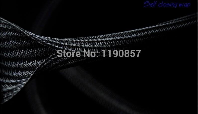 2'' ID:50MM Length 10ft Flexo F6 Braided Sleeving Cable Wrap Split Loom Self-closing braided wrap
