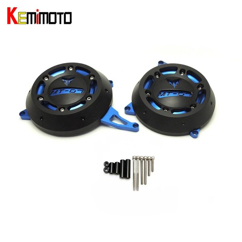 KEMiMOTO For Yamaha mt 07 Engine Stator Case Cover Engine Protective Cover Protector MT-07 MT07 FZ-07 FZ07 2014 2015 2016 for yamaha fz 07 mt 07 engine stator case cover engine protective cover protector mt07 fz07 2014 2016 blue