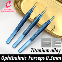 Titanium Alloy Medical Ophthalmological Microsurgery Instrument Platform round handle Hook Dog Tooth Tweezers Tissue Tweezers