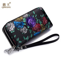 Brand Women Wallet Leather Lady Purse Long Quality Cluth Female Vintage Wallets for Women Designer Coin Pocket Carteira Feminina