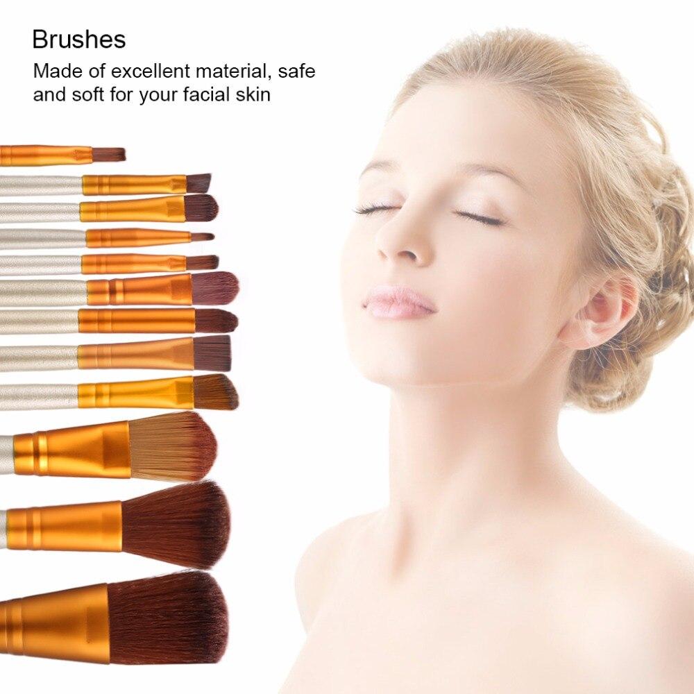 12 Unids Esencial de Belleza Pinceles de Maquillaje Maquiagem Cosmética Set de M