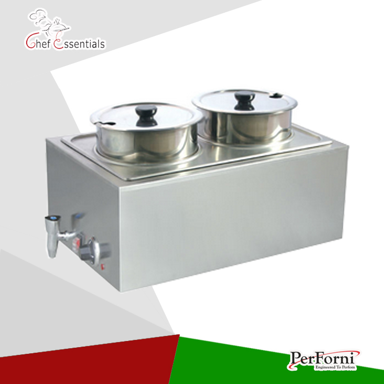 PKLH-K165AT-4 Wholesale stainless steel Bain Marie electric food warmer buffet machine for restaurant and hotel churro display warmer deluxe stainless steel churro showcase machine with heat food warmer and oil filter tray