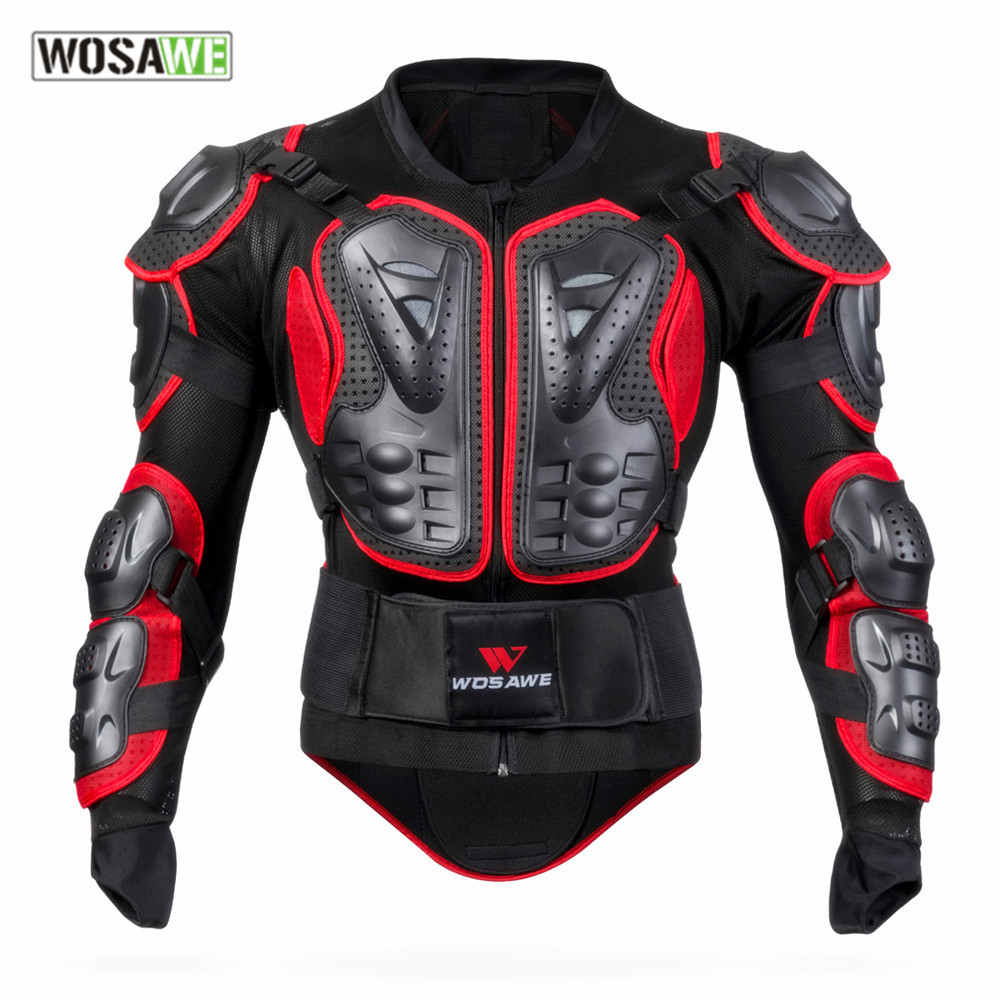 WOSAWE mens motorcycle jackets windproof womens jackets body armor clothing shoulder back guard support motocross jacket in Jackets from Automobiles Motorcycles
