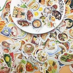 172 pçs comida ocidental bonito e comida chinesa adesivo para livros de diário decoração adesivos adesivos/auto feito diy adesivo
