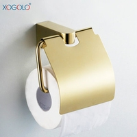 Xogrlo Toilet Paper Holder For Bathroom Soild Gold Copper Fashion Towel Paper Holder Accessories Wholesale And