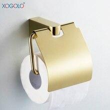 Xogrlo Al Por Mayor Y Al Por Menor de Cobre Sólido de Color Oro Accesorios de Baño Titular de Rollo de Papel Higiénico Titular