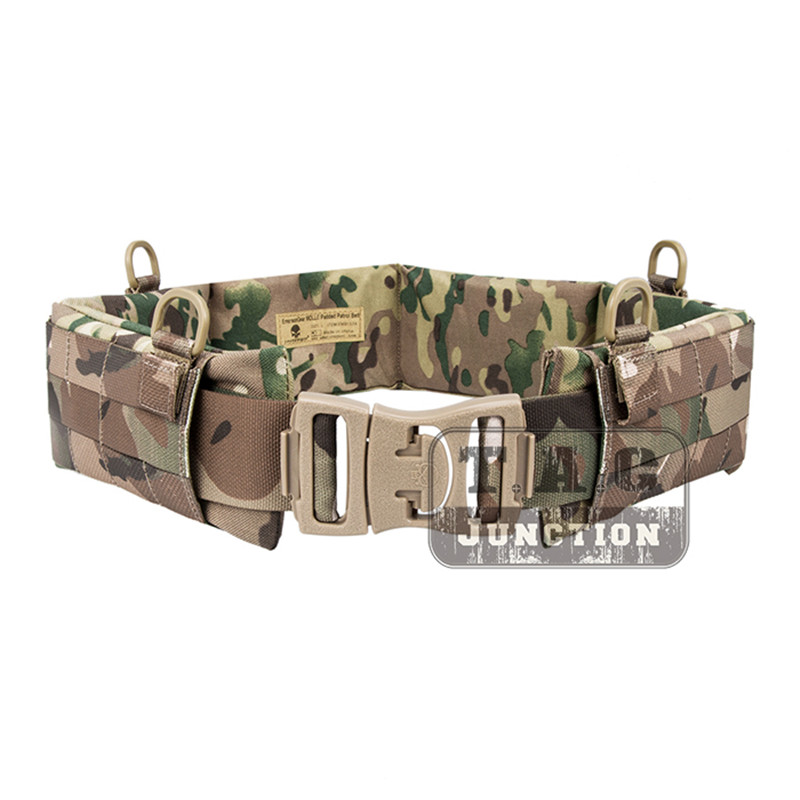 Tactical Belt Molle Padded Multifunctional Battle Webbing Belt Combat Belt