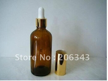 100ml brown/green/blue essential oil bottle with plastic cap+glass dropper,glass bottle