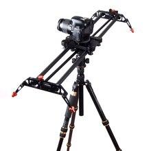 Travel Portable carbon fiber camera slider 120 Degree Rotated angle adjust 80cm DSLR video slider dolly track rail stabilizer