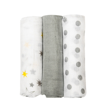 Cute Summer Breathable Cotton Swaddle Blankets Set