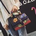 Bufanda de Seda de las mujeres del bolso del mensajero del bolso femenino de la vendimia de bolsa bolso del hombro mini de alta calidad original de la Marca Bordado