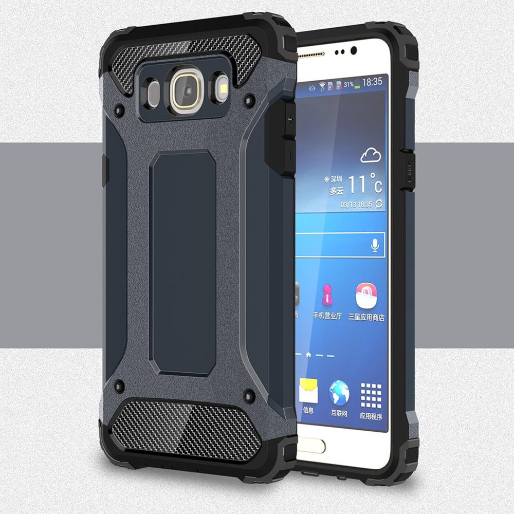 Galleria fotografica For Samsung Galaxy J5 2015 J5 2016 J510 J510F Slim Armor Anti-Shock Silicone Hybrid Hard PC Phone Case For Samsung J5 2016 Cover