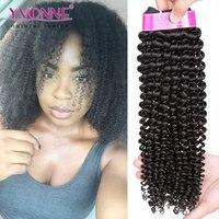 Yvonne Brazilian Kinky Curly Virgin Hair,3Pcs/lot Brazilian Hair Weave Bundles,Top Quality Aliexpress 100% Remy Human Hair