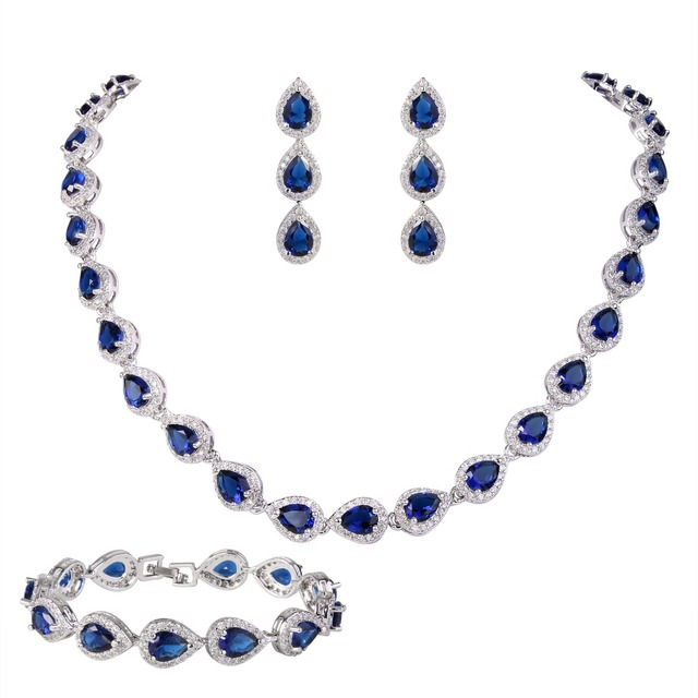 Aliexpresscom Buy BELLA Fashion Blue Red Silver Plated Necklace