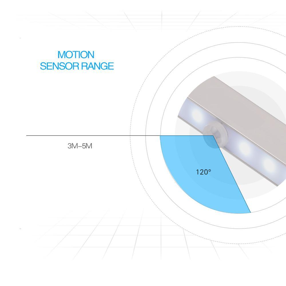 Menyesuaikan 20 LED Motion Sensor Lamp Daya Baterai 20 led PIR - Lampu malam - Foto 3