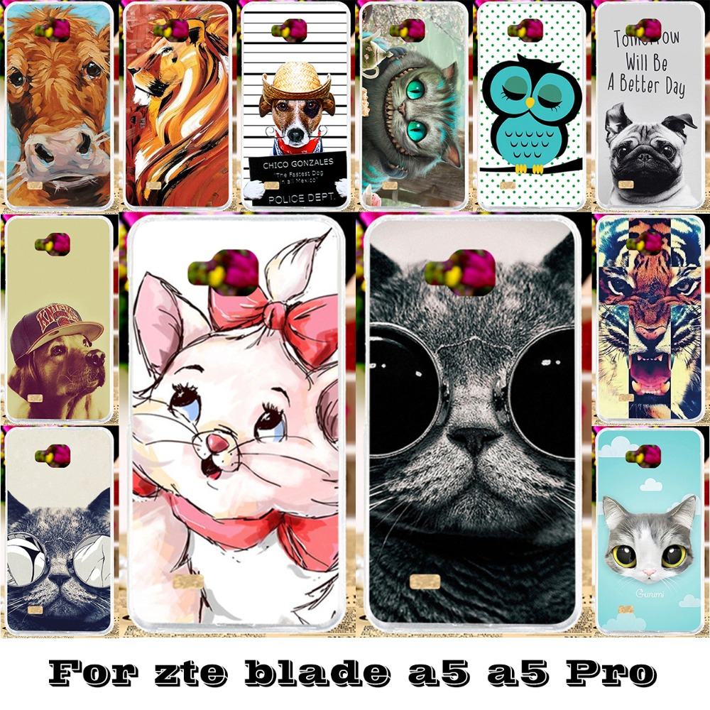 Flexible Covers For Zte Blade Af3 A3 A5 Pro Case Af 3 Lux V830w Soft Silicon Tpu Phone Cases
