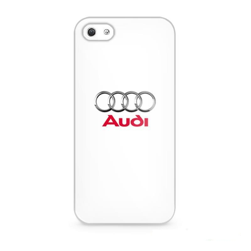 Audi White logo Cover case for iphone 4 4s 5 5s 5c 6 6s plus samsung galaxy S3 S4 mini S5 S6 Note 2 3 4