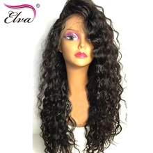 Elva Hair Water Wave Lace Front Human Hair Wigs For Black Women Brazilian Remy Hair Lace Wigs Pre Plucked Hairline Natural Color