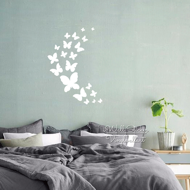 Butterflies Wall Sticker Baby Nursery Butterfly Wall Decal DIY Kids Room  Cut Vinyl Easy Wall Art Part 42